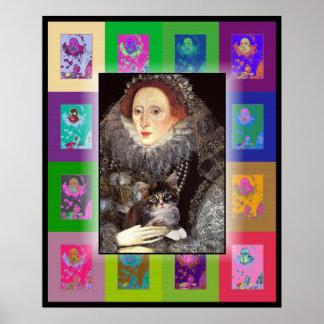 A kitten for Elizabeth I Print