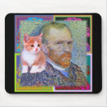 A Kitten for Vincent Van Gogh Mouse Pad