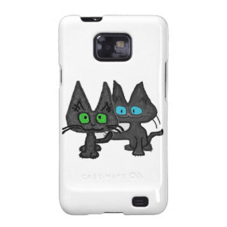 A Kitten Swings At His Friends Tail Galaxy SII Cases