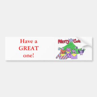 A Kitty Cat Christmas! Bumper Sticker