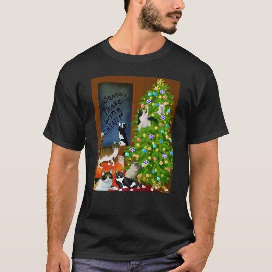 A Kitty Cat Christmas Dark T-Shirt