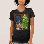 A Kitty Cat Christmas Petite T-Shirt