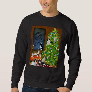A Kitty Cat Christmas Sweatshirt