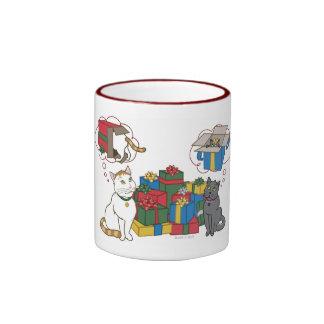 A Kitty Christmas Ringer Coffee Mug