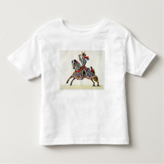 A knight at a tournament, plate from 'A History of Toddler T-shirt