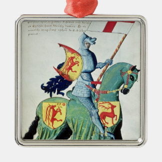 A Knight Carrying the Arms of Verona Metal Ornament