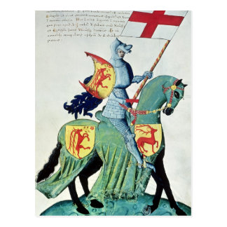 A Knight Carrying the Arms of Verona Postcard