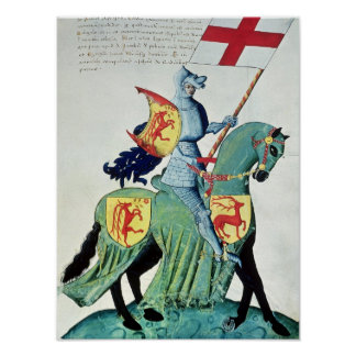 A Knight Carrying the Arms of Verona Poster