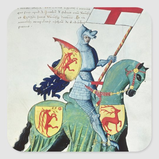 A Knight Carrying the Arms of Verona Square Sticker