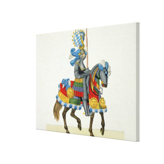 A knight on his way to a tournament, plate from 'A Canvas Print