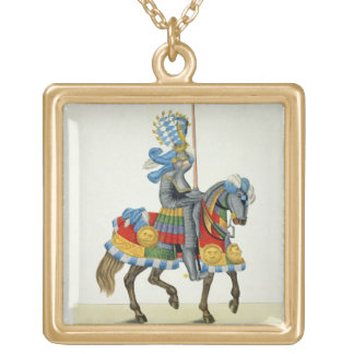 A knight on his way to a tournament, plate from 'A Gold Plated Necklace