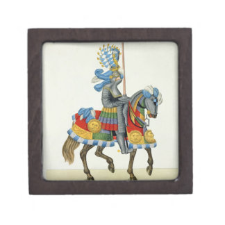 A knight on his way to a tournament, plate from 'A Jewelry Box