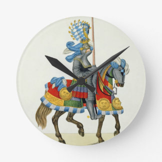 A knight on his way to a tournament, plate from 'A Round Clock