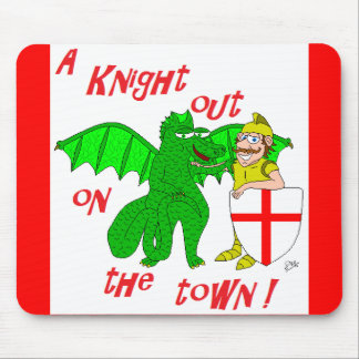A Knight out on the town Mouse Pad