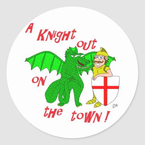 A Knight out on the town Sticker