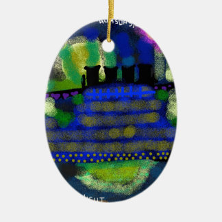 A Knightly Night.jpg Ceramic Ornament