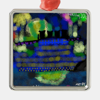A Knightly Night.jpg Metal Ornament