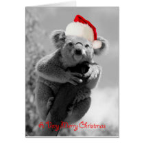 A koala happy christmas card