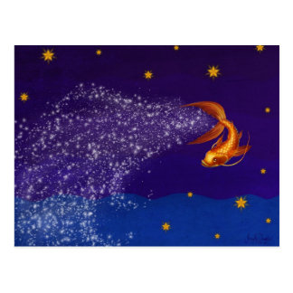 A Koi Among the Stars - postcard