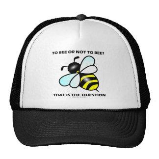 ¿A la abeja o no a la abeja? Ésa es la pregunta (l Gorras