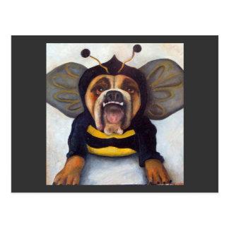 a la abeja o no a la abeja tarjetas postales