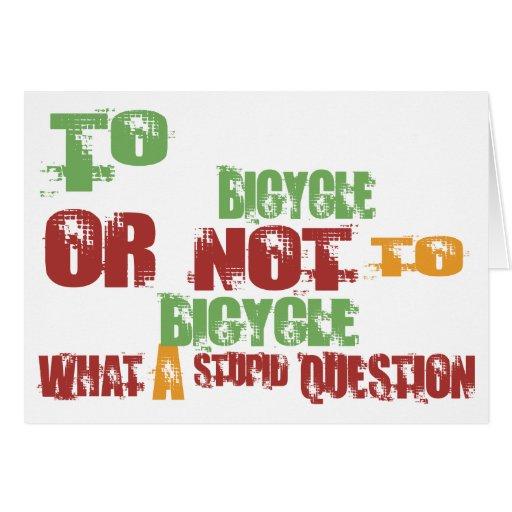A la bicicleta felicitaciones