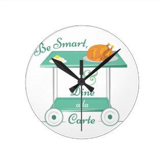 A La Carte Round Clock