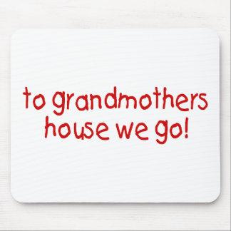 a la casa de las abuelas vamos alfombrillas de raton