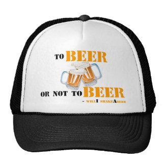 A la cerveza o no a la cerveza - shakeAbeer del wi Gorras