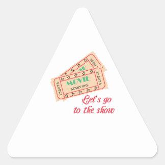 A la demostración pegatina triangular