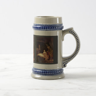 A la esposa de Potiphar de Rembrandt acusa a José Taza De Café