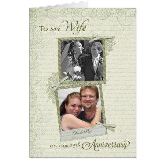 A la esposa en el aniversario del __th - personali tarjeton