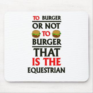 A la hamburguesa o no a la hamburguesa tapete de ratones