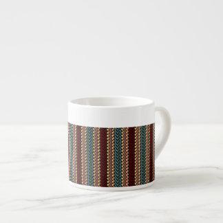 A la Indonesian textile colors 6 Oz Ceramic Espresso Cup