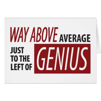 A la izquierda de genio tarjeta de felicitación