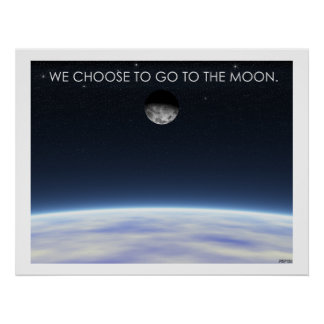 A la luna póster