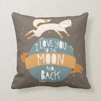 """""""A la luna y a la parte posterior """" Cojin"""