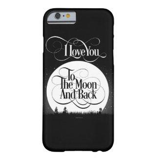 A la luna y a la parte posterior funda de iPhone 6 barely there