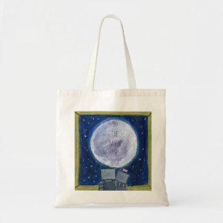 A la luna y al tote trasero bolsas