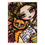 A LA MAMÁ del arte cómico lindo del CAT de Hannah Tarjeta De Felicitación