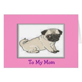 A la mamá tarjeta de felicitación