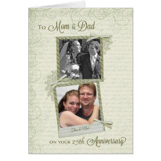 A la mamá y al papá en Aniversario-Personalizado Tarjeta De Felicitación