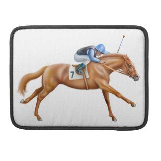 A la manga de la aleta del carrito del caballo de funda para macbook pro