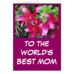 a la mejor tarjeta de felicitación de la mamá de l