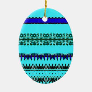 A la mode Blue Ceramic Ornament