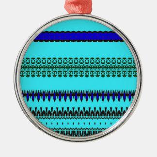 A la mode Blue Metal Ornament