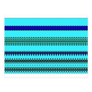 A la mode Blue Postcard