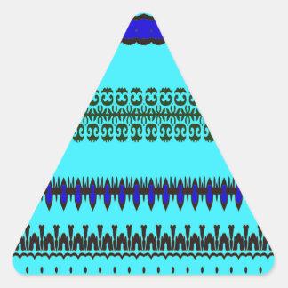 A la mode Blue Triangle Sticker