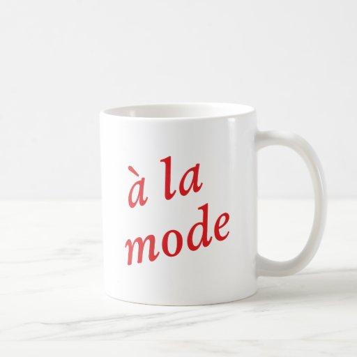 A la mode classic white coffee mug