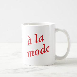 A la mode coffee mug